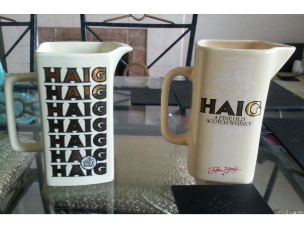 Pair of haig water jugs
