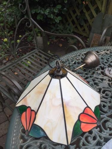 Pair of pendant lampshades