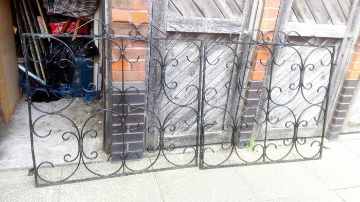 Pair of Vintage Ornate Wrought Iron Gates