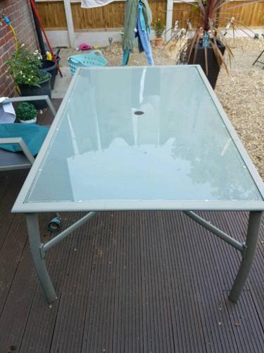 Patio /garden glass top table