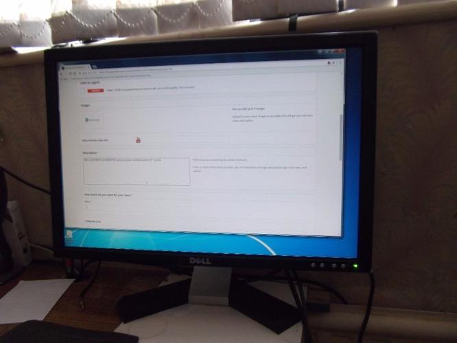 pc monitor DELL E207WFP LCD MONITOR