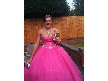 Rentprom Dress on Pink Princess Prom Dress Size 10 14 In Sutton Coldfield  Warwickshire