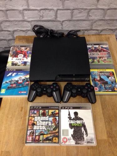 Playstation 3 Slimline 160Gb Bundle 6 Top Games Gta5 2