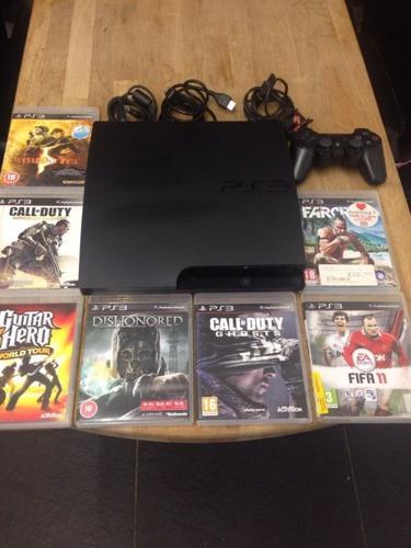 Playstation 3 Slimline 160Gb Bundle 7 Top Games 1