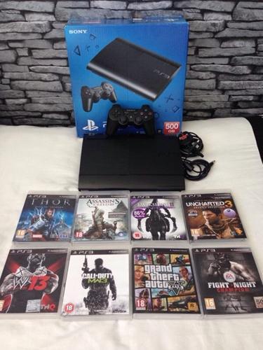Playstation 3 Super Slimline 500Gb Bundle 8 Top Games 1