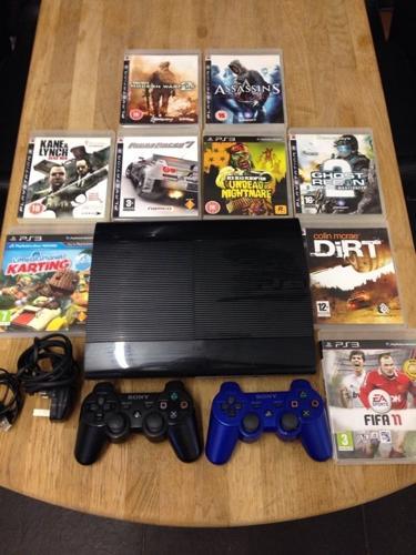Playstation 3 Super Slimline 500Gb Bundle 9 Games 2