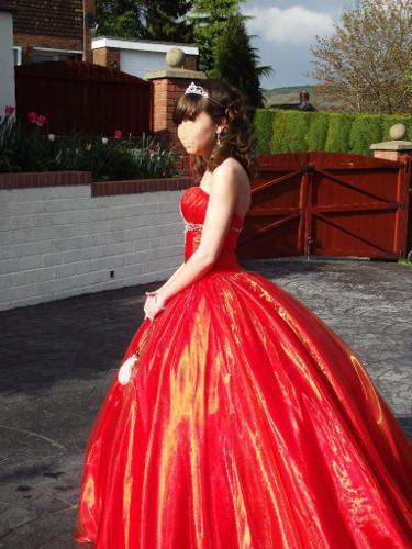 Prom Dress - Beautiful Burnt Orange size 6-8, Mori Lee,