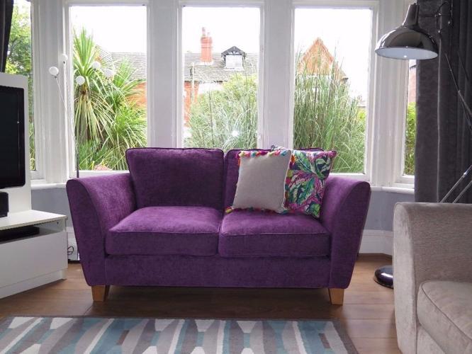 Purple SOFOLOGY 'Canterbury' 2 Seater Sofa RRP £625