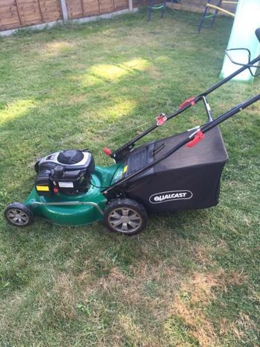 Qualcast petrol lawnmower self propelled