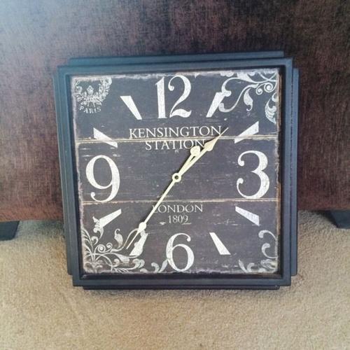 'Railway station' clock - brand new