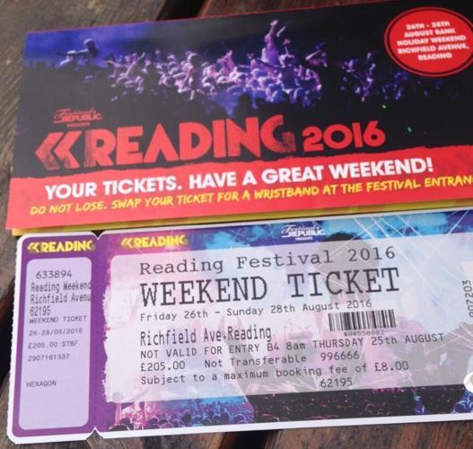 reading festival weekend ticket £400