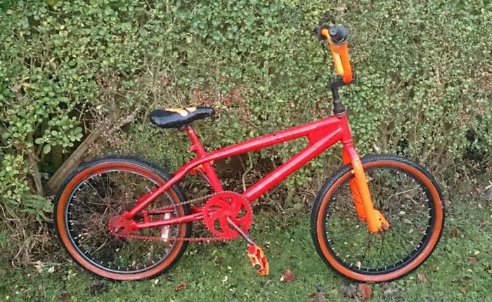 Red bmx used stunt bike used