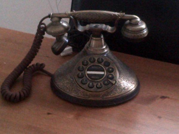 retro brass phone