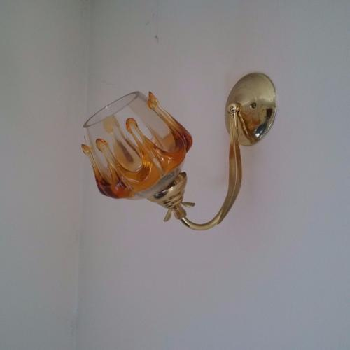 Retro/vintage glass wall lights