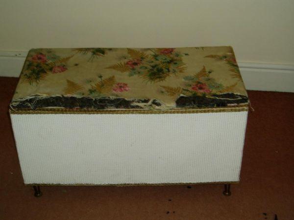 Retro Wicker Ottoman Blanket/Storage Box £10