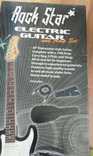 Rock Star electric guitar with amplifiers