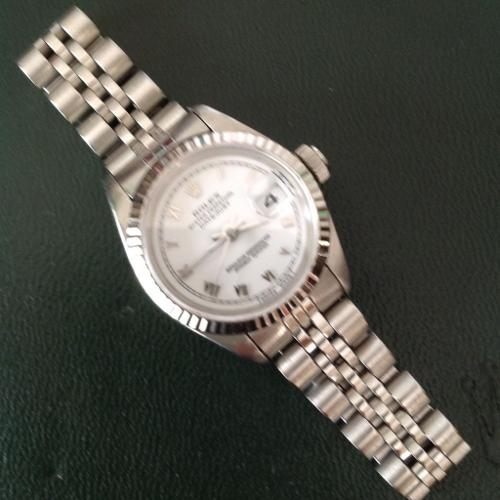 ROLEX LADIES OYSTER DATE 69174 PERPETUAL STAINLESS