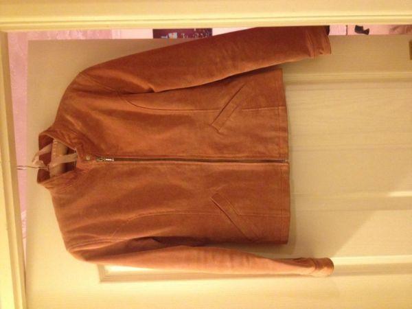 Rose/blush colour suede jacket