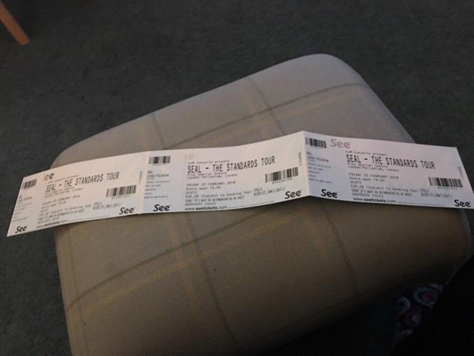 Seal tickets Friday 23 rd Feb London Palladium