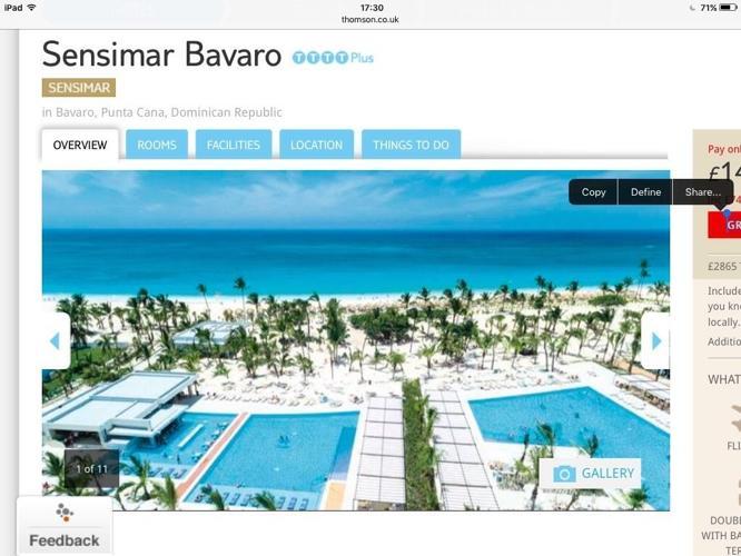Sensimar Dominican Republic 2 weeks all inclusive. 2