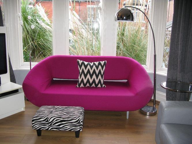 Shocking Pink Designer JOHN LEWIS SOFTLINE Sofa rrp