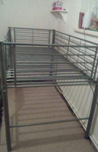 Silver Mid Sleeper Bed