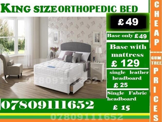 Single / Double / King Sizes Bed Orthopedic Bed Frame