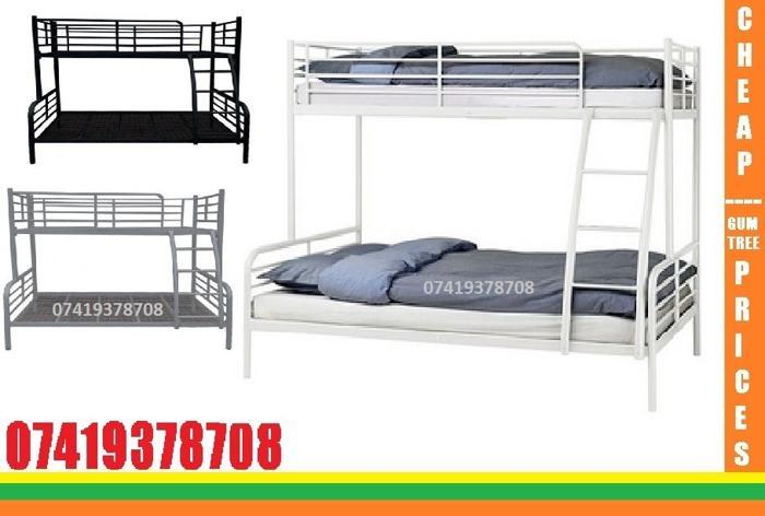 single top double bottom trio sleeper metal bunk base