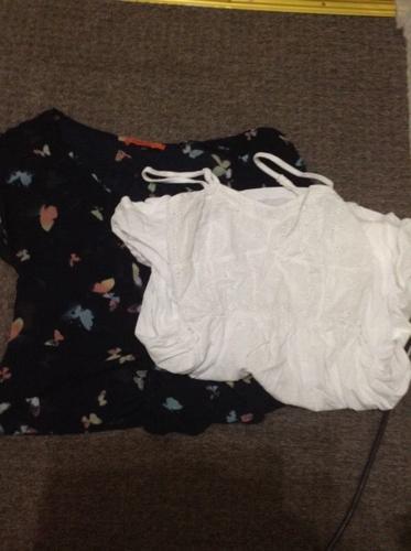 Size8 women's clothing shirt + dress