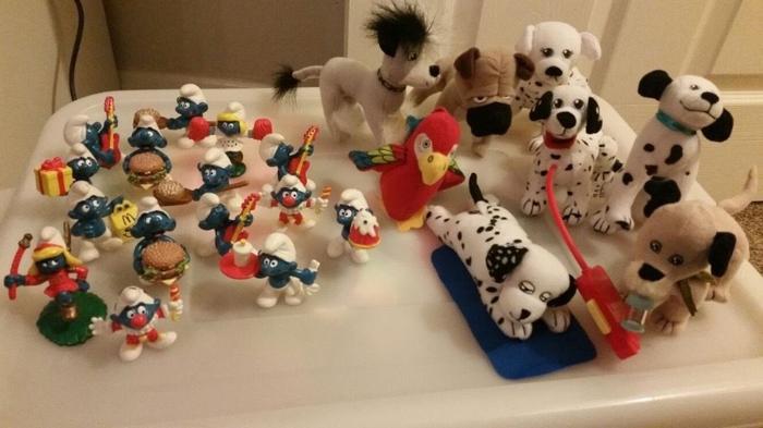 Smurfs and 102 Dalmatians toys