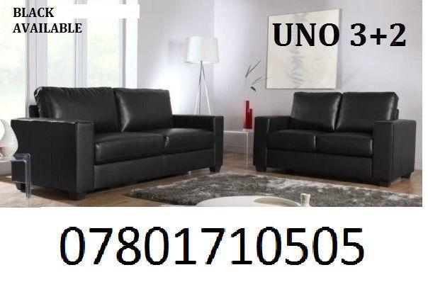 SOFA Italian leather 3+2 sofa black or brown 5777