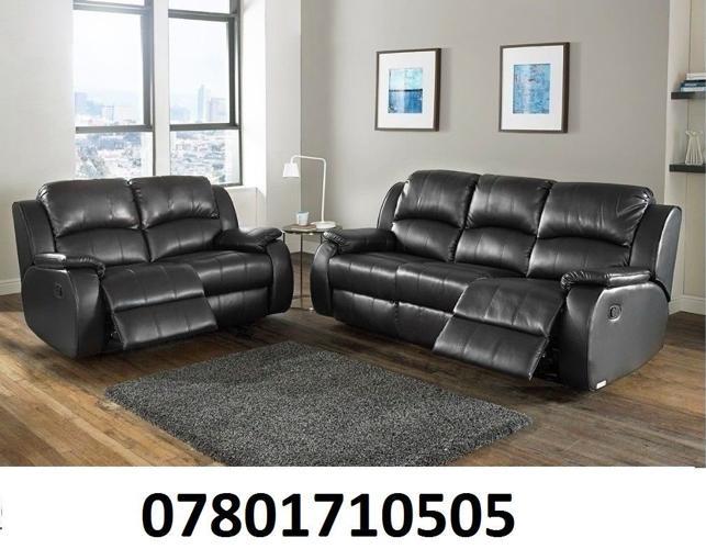 sofa lazy boy recliner sofa black real leather BRAND