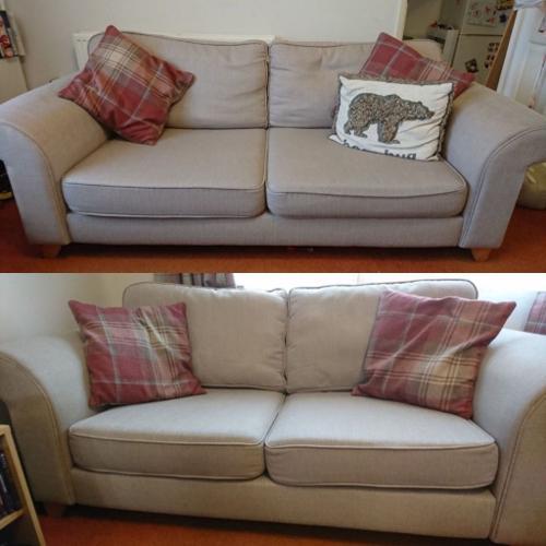 SOLD 2 x DFS Sofa's (2 + 3 - Sand/Beige) £350