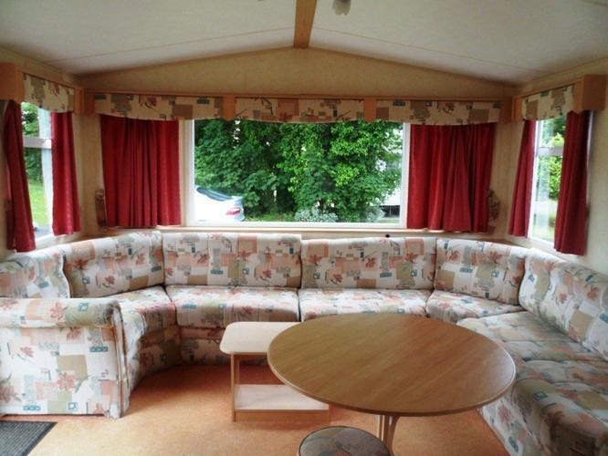 Static holiday home caravan Par Sands Cornwall nr Fowey