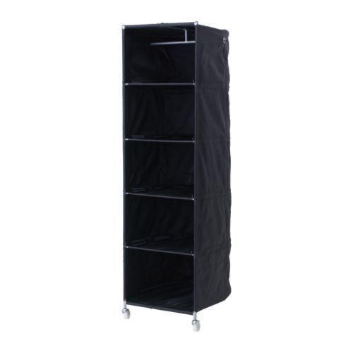 Storage wardrobe/shelving on wheels