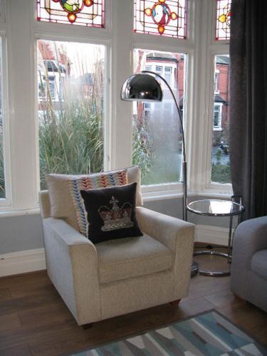 Stylish Beige NEXT Fabric Armchair Chair