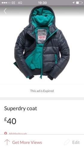 Superdry coat womens