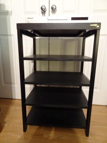 Target Audio Hi-Fi Stand 5 Shelf in Black
