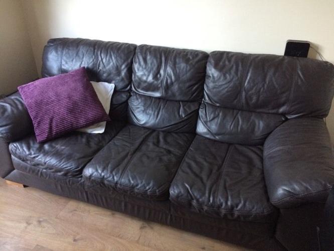 Three seats leather sofa need go asap !