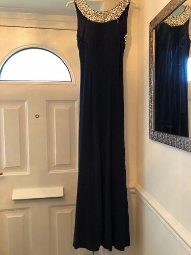 Tiffanys Chicago prom dress navy blue