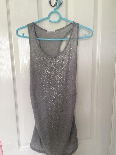 Topshop Sparkle Vest - Size 8