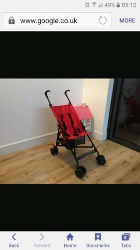 Travel stroller red