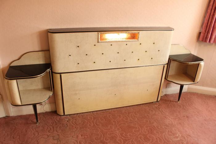 UMBERTO MASCAGNI Vintage Italian Double Headboard with