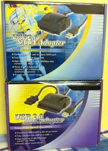 USB ADAPTERS FOR IDE AND SATA HARD DRIVES ( NEW, BOXED