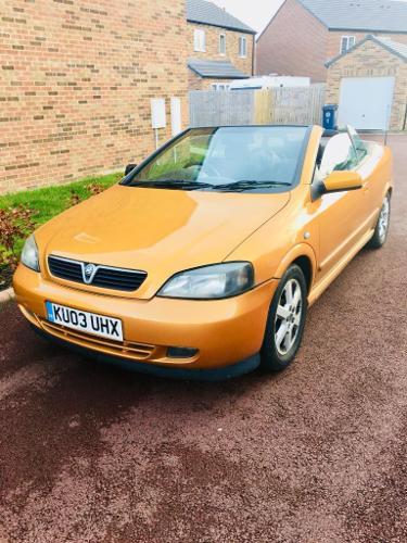 Vauxhall Astra Convertible, 2003, 5 Months Mot, 70,000