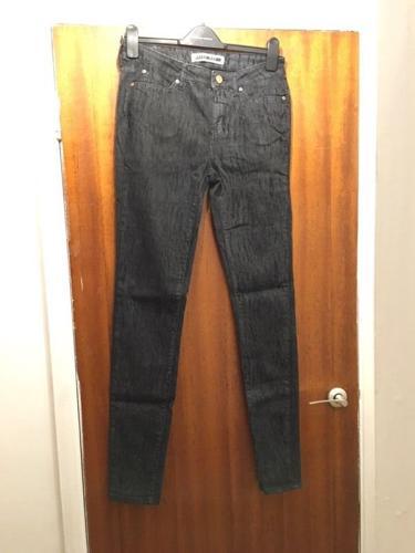 Vera moda Black jeans with white pattern design - size