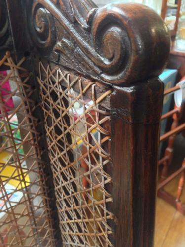 Victorian cane chair