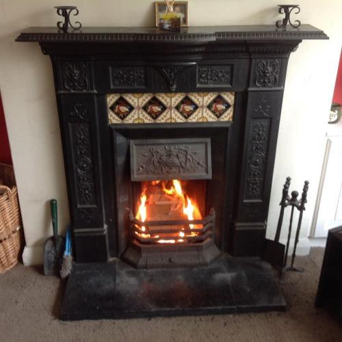 Victorian Edwardian cast fire place