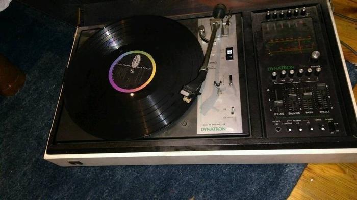 Vintage Dynatron Record Player + Goldring G101