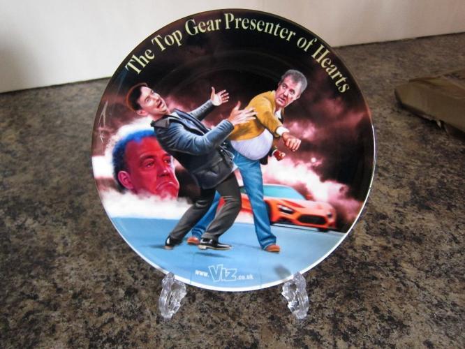 Viz Jeremy Clarkson Top Gear Presenter of Hearts Plate